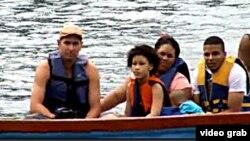 Esta familia es una de las que ha atravesado la selva del Darién, en Panamá (Foto: TVN)