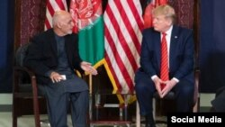 Donald Trump se reune con el presidente de Afganistán