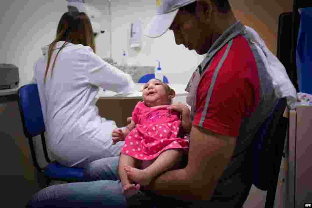 En Brasil hay cerca de 4 mil casos de microcefalia en recién nacidos que se presume están relacionados con el virus Zika. EFE/Percio Campos