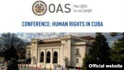 """Conferencia """"Derechos Humanos en Cuba"""", este viernes 7 de diciembre en la OEA."""