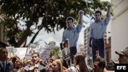 Juicio contra Leopoldo López en Caracas, Venezuela.