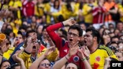 Miles de aficionados al seleccionado colombiano de fútbol recibirán a su equipo en Bogotá.