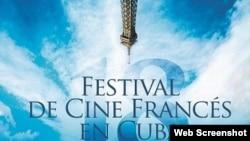 Afiche oficial del Festival de Cine Francés en Cuba.