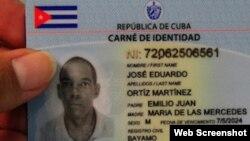 Nuevo Carné de Identidad de Cuba.