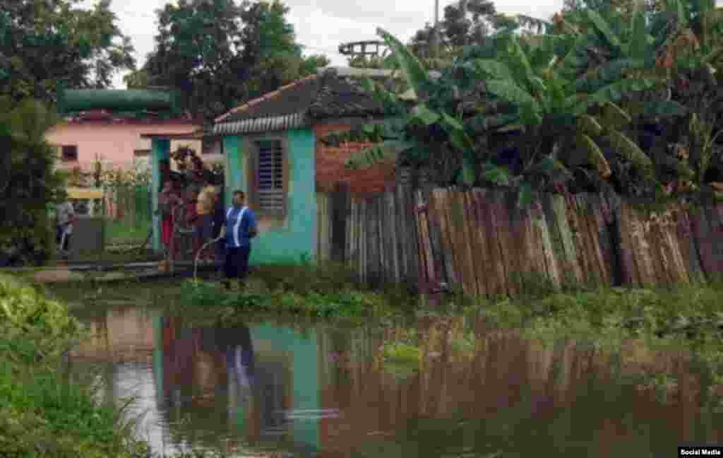 Acumulaciones de lluvia dejadas por la tormenta Alberto en Pinar del Río.