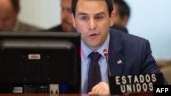 Carlos Trujillo, embajador de EEUU ante la OEA, interviene durante la sesión del Consejo Permanente sobre Venezuela (Foto: Archivo).