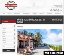 Esta casa a pie de playa en Varadero se ofrece po 194 CUC diarios.