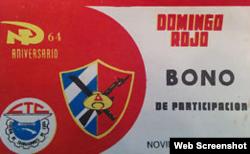 Un bono de Domingo Rojo.