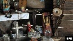 El altar de una espiritista cubana.