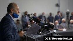 Marcell Felipe en conferencia de prensa.