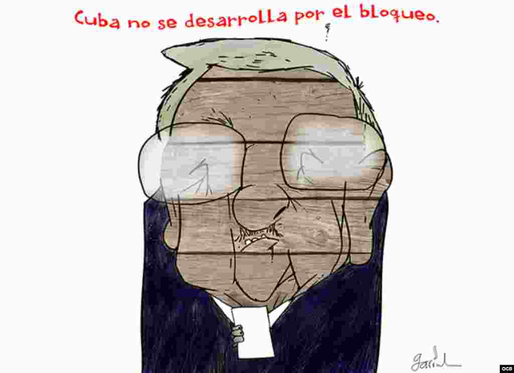 Garrincha's cartoon about Raul Castro in United Nations Assembly