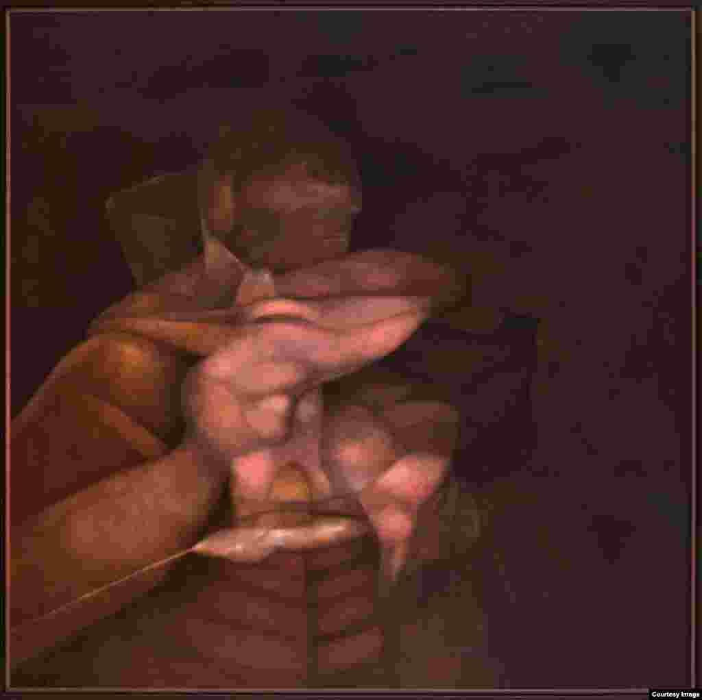"Rafael Soriano. ""El patriarca (The Patriarch)"", 1994. Oil on canvas/óleo sobre lienzo 50 x 50 inches (127 x 127 centímetros). Rafael Soriano Family Collection/Colección de la Familia Rafael Soriano"
