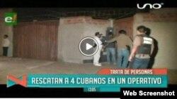 """Operativo en Bolivia """"rescata"""" a cuatro presuntos inmigrantes ilegales cubanos."""