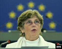 La esposa del periodista, poeta y disidente cubano Raúl Rivero, Blanca Reyes.