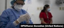 La vacunación en Cundinamarca, Colombia, comenzó el 18 de febrero. Las primeras 1770 dosis se destinarán a pesonal de salud. Foto: OPS/Karen González.
