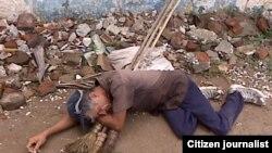 Reporta Cuba mendigos en Contramaestre. Foto: YVerane.