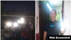 Cubanos participantes de Campaña #LuzDeAlarma (Foto tomada de las redes sociales)