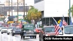 Caravana por la Libertad y la Democracia en Miami.