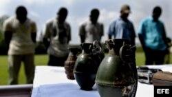 Guerrilleros de las Fuerzas Armadas Revolucionarias de Colombia (FARC). Foto de archivo