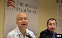 Jaime García-Legaz, secretario de Estado de Comercio de España, y Xulio Fontecha, presidente de la Asociación de Empresarios Españoles de Cuba (i-d).