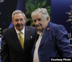 Raúl Castro y José Mujica durante la II Cumbre de la CELAC en La Habana