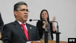 Archivo - Elías Jaua, durante una intervención en la Asamblea Nacional en Caracas (Venezuela)