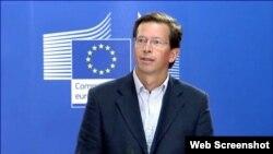 El portavoz de la Comisión Europea, Alexander Winterstein.