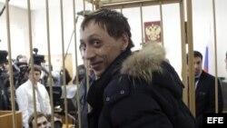 El bailarín solista del Bolshói Pável Dmitrichenko asiste a una vista en Moscú (Rusia).