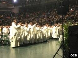 Celebración del Día de la Virgen de la Caridad del Cobre en Miami. Foto Alvaro Alba.