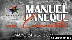 Manuel Paneque, cartel promocional para concierto en Kendall.