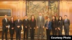 Líderes hispanos de EE UU con el Príncipe Felipe