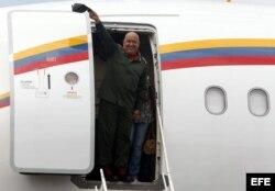 ARCHIVO. El avión presidencial de Hugo Chávez.