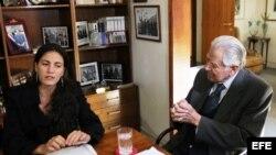 Rosa María Payá es recibida en Chile por el expresidente Patricio Aylwin