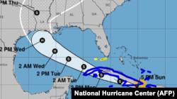 Proyección de la tormenta tropical Laura, 5:00 pm del 23 de agosto de 2020