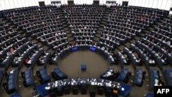 Una sesión plenaria del Parlamento Europeo celebrada el 14 de noviembre de 2018.