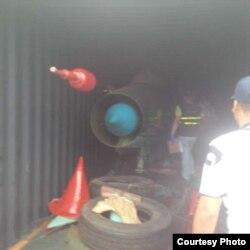 Mig21 en el barco norcoreano
