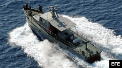 Fotografía de archivo de una embarcación de las Tropas Guardafronteras (TGF) cubanas
