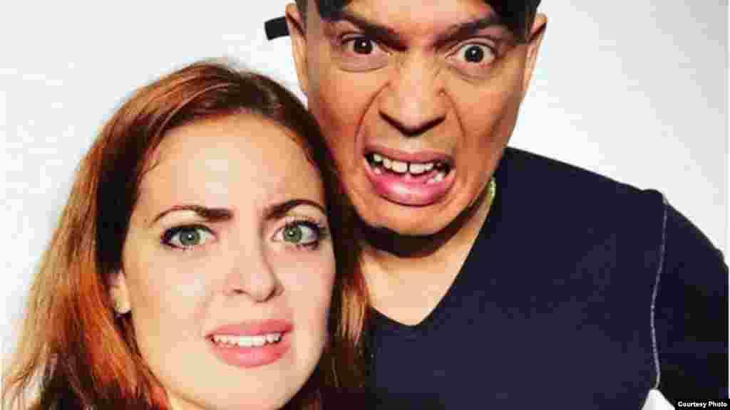 Alexis y Claudia Valdés en una de las imágenes promocionales de la obra.