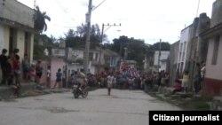 reporta cuba acto de repudio y arrestos Santa Clara 23 junio foto Yoel Bencomo