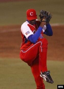 Aroldis Chapman cuando era miembro del equipo Cuba.