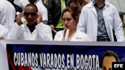 Médicos cubanos varados en Colombia