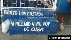 Aparecen carteles antigubernamentales en Placetas
