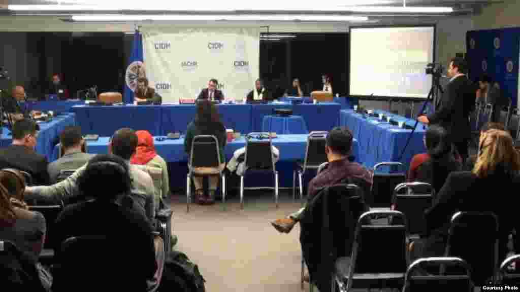 Vista general de la audiencia del CIDH sobre derechos de minorías sexuales en Cuba.