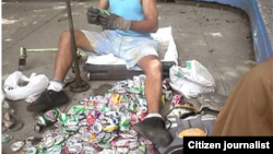 Reporta Cuba. Recogedores de materia prima. Foto: Adonis Salgado.