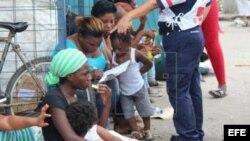 Africanos entre la frontera de Panamá y Costa Rica