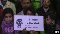 Ataque con armas químicas en Siria.