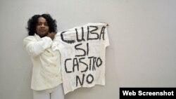 Berta Soler, líder de las Damas de Blanco.
