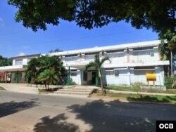 Policlínico donde fue atendido el boxeador cubano.