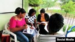Mujeres de la Red Femenina de Cuba participan en un taller de intercambio de conocimientos en La Habana. (Facebook).