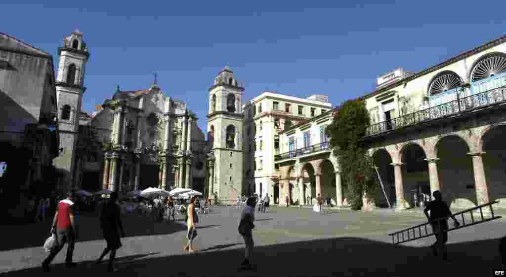 Catedral de La Habana, ubicada en La Habana Vieja, lugar preferido por los visitantes a la isla.